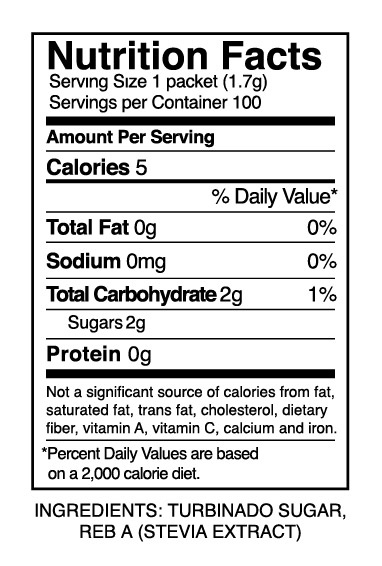 With only 5 calories per serving and crunchy golden crystals that taste like sugar you will want to bring these convenient packets everywhere with you. ...