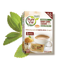 Pure Via Turbinado and Stevia Blend 100ct Packets